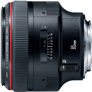 Stock image of the Canon 85mm f/1.2L