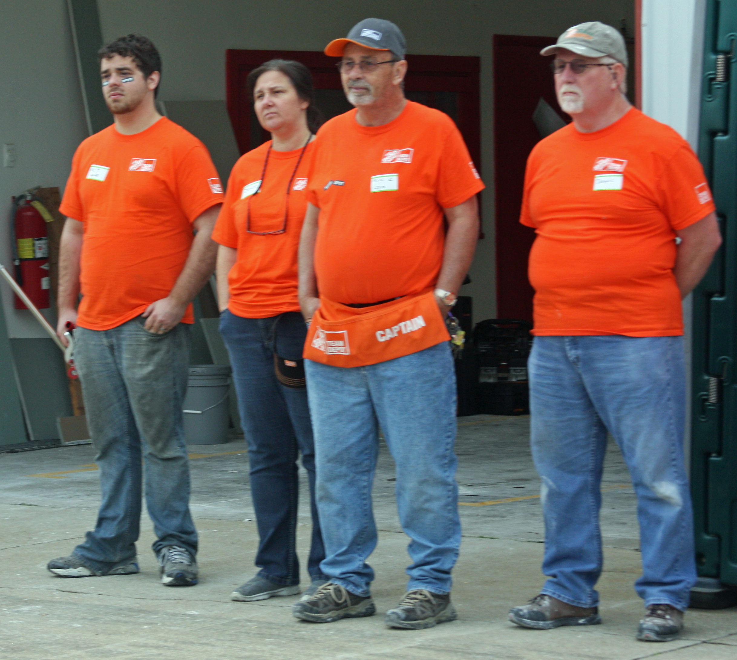 Pictures of home depot employees.