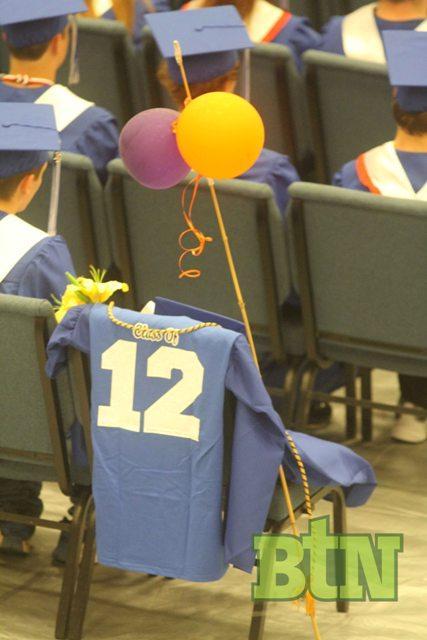 Raven's seat at graduation