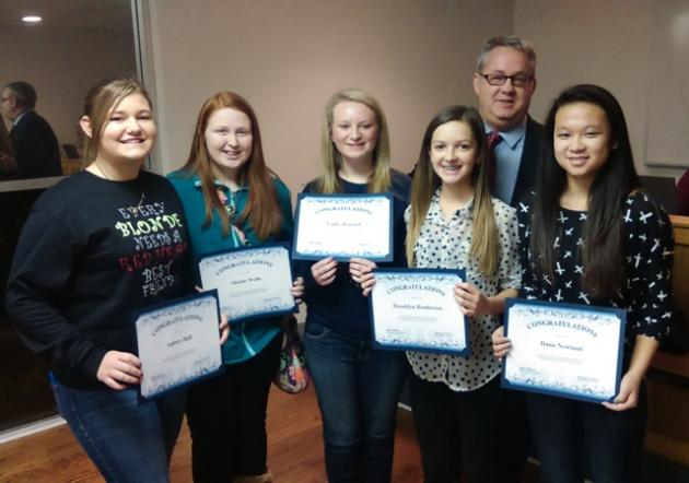 Butler County Middle School STLP students were recognized by the board.