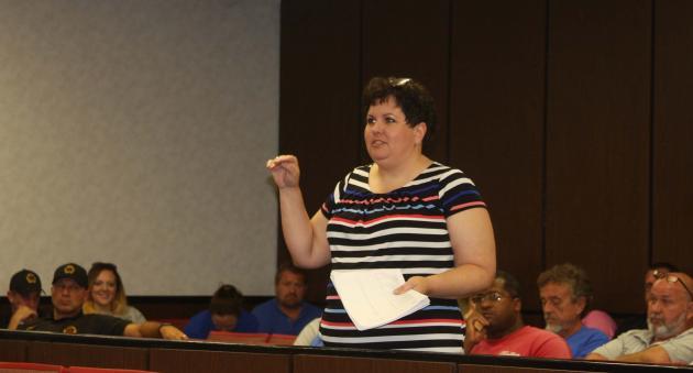 Rhoda Chism addresses the Court.