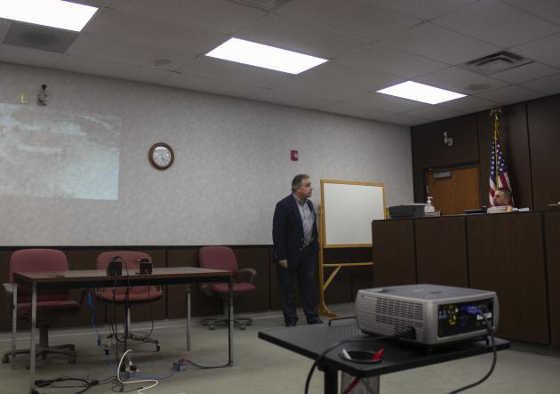 John Dix, President of the Kentucky Rural Water Association speaks about plans for the Rochester Dam.
