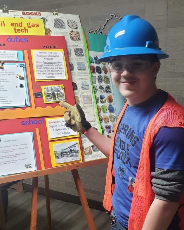 Scout Don Elmore did a presentation on coal.