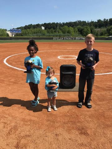 The grand prize winners for the 2021 Terrapin Race were Ari Rife-first place, #123; Emma Decker-second place, #14; and Caleb Gabbard-third place, #30.