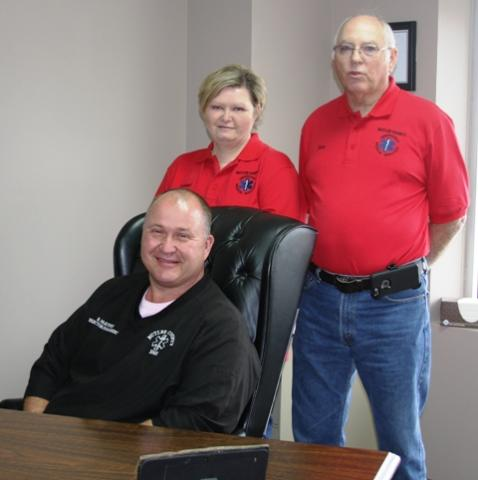 EMS Director Brian McKinney and board members Debbie Worley and Don Sullivan