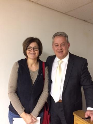 New Board Member Aimee Sander (First District) and Supt. Scott Howard