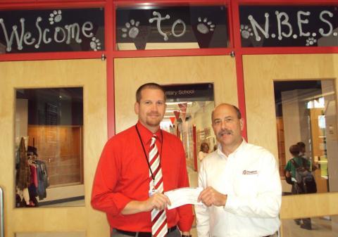 NBES Principal Josh Belcher and Brad Young