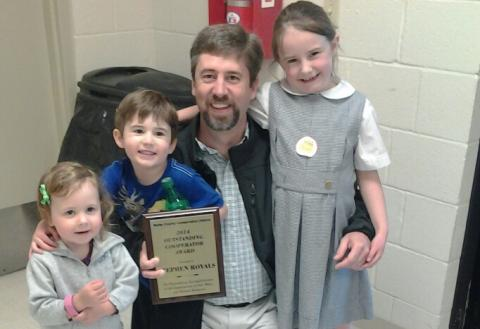Dr. Stephen Royals accepted the 2014 Outstanding Cooperator Award