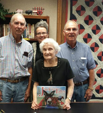 Left to right in picture are Joe Wood of Ohio,County,(Tommy's brother)  Linda Hawkins owner of Heart to Heart Publishing,Inc, Tommy Wood, past owner of a KY coal mines and former Kentuckian, Author Lynn Kendrick now of Momence, IL.
