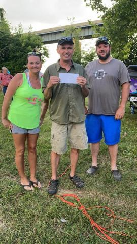 Kendall Embry won five hundred dollars for his tagged fish from Triple C Pawn Shop.