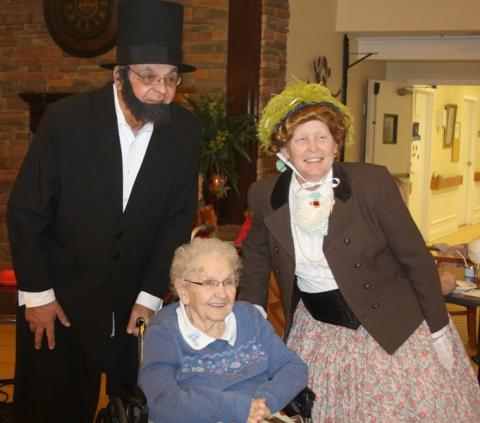 Abe and Mary Todd Lincoln stopped by MCRC.