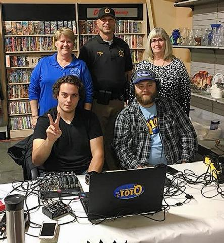 Sherry Johnson, Scottie Ward, and Suzanne Brosnan dropped off their donations on Friday.  DJ's Sean Whittinghill and Brent Clark manned the microphones.