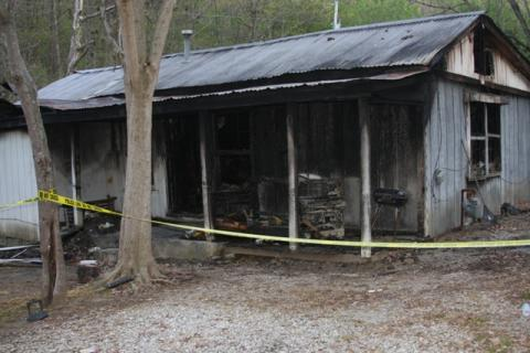 This house fire occurred on Sunday, April 20, 2014.