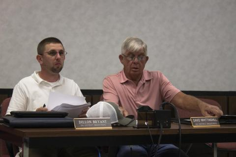 Fifth District Magistrate Dillon Bryant and Fourth District Magistrate David Whittinghill