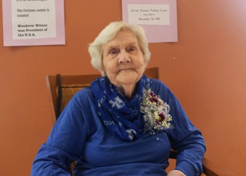 Happy 100th birthday Mrs. Arrah Wanna Evans