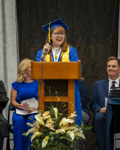 Valedictorian Elizabeth Claire Coleman.