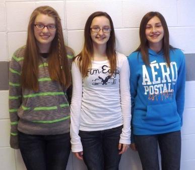 Hannah McClelland, Mikayla Iler, and Hannah Perry