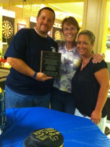 Billy and wife Dana with former mayor Eva Hawes