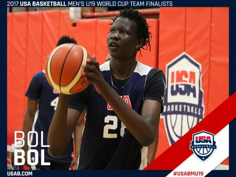 Bol Bol will play twice for top-ranked Findlay Prep in the Marshall County Hoop Fest. He's the top-rated center in the 2018 recruiting class. (USA Basketball Photo)