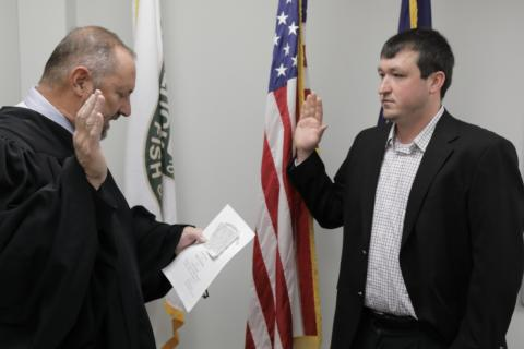 Brian Fisher of Bowling Green. Fisher, was sworn in Friday, to represent the Second Wildlife District in western Kentucky.