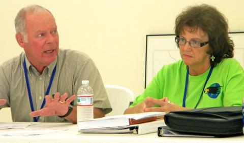 Councilmembers Rick Scott and Sharon Phelps
