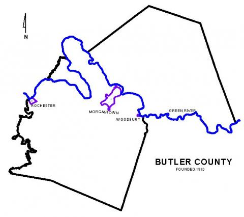 Map of Butler County
