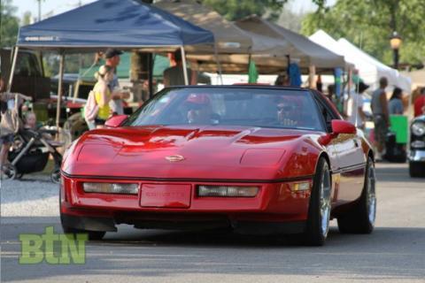 Dwight Jenkins in his Corvette