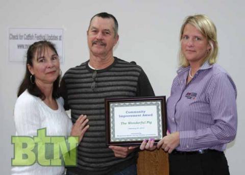 The Wonderful Pig receives the Community Improvement Award