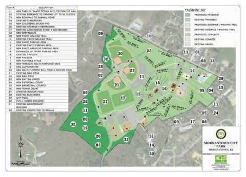 Plans for possible renovation of Charles Black City Park in Morgantown.