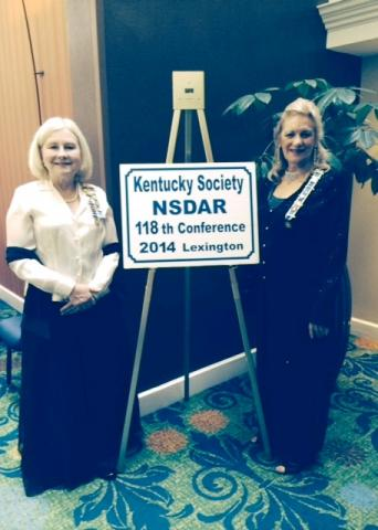 Cynthia R. Hensley, past BCNSDAR Regent and Jane Eaton-Henderson, Regent 2014-2016 at conference.