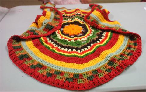 Circle vest designed by Ann B