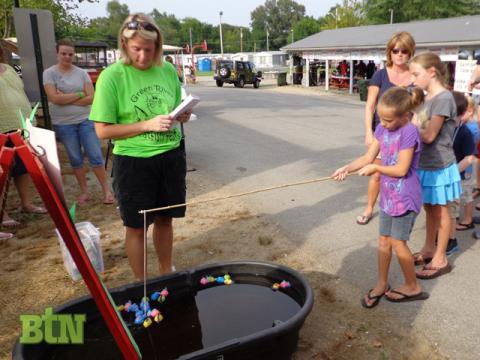 """Andy Hawkins snagged the """"star fish"""" last night at Fishin' for the Little Ones. She will win either $50 or $100 at the closing ceremonies."""