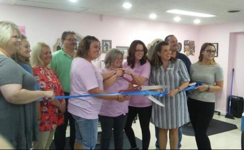Ribbon cutting was held on Monday.