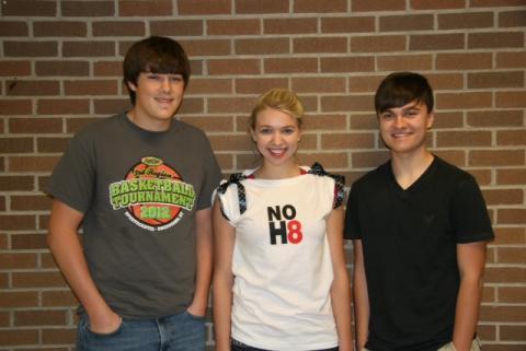 Alex Hall, Sierra Fields, and Austin VonAxelson