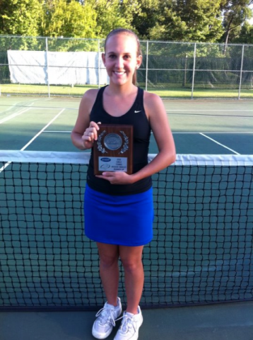 Chanda Hampton with her 3rd Region Runner-Up Trophy