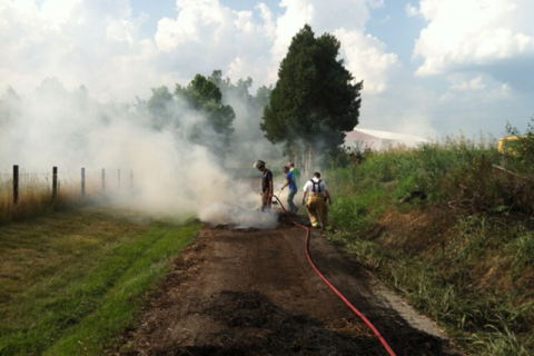 The Annis Farms hay fire