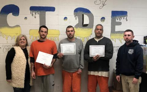 Tara McMillin, Class D Coordinator for the Butler County Jail, Travis West, James Conkright, Jerome Mahoney, Magistrate Dillon Bryant