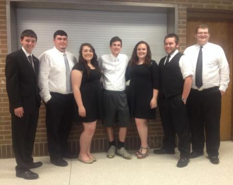 Matthew Embry, Tyler Johnson, Allison Kurfiss, Chase McCoy,Lennon Johnson, Tristan Elmore, and Tyler Vincent