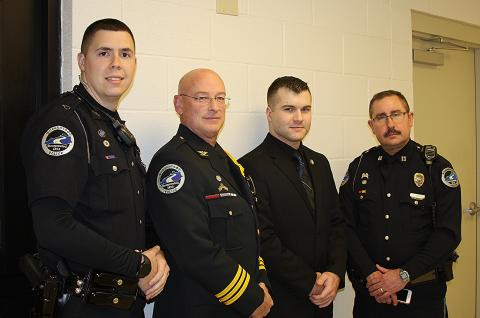 Officer Evans, Chief Taylor, Officer Burden, and Captain Burden
