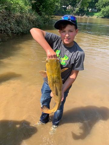 Jayden Jenkins' catfish wasn't a tagged one but it was one of the larger catfish turned in at 9.28 lbs.
