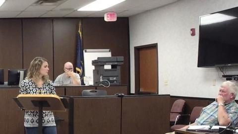 Butler County Animal Shelter Director Ruby Fooks addresses the court.