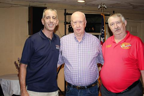 """National Commander B.J. Lawrence, Don Jenkins, Medal of Honor Recipient, and State Commander Robert """"Doc"""" Daugherty"""