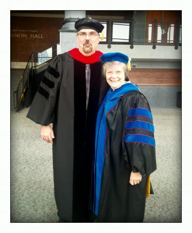 Dr. Darryl Dockery and  Sister Cheryl Clemons Academic Dean of Brescia University.