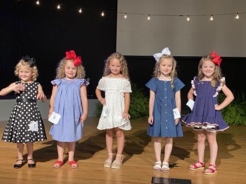 Top Five 4-5 year olds:  #3 Jemma Ann Tester  #6 Raelynn Elyse Neighbors  #10 Ila Mae Barks  #11 Kaylin Hooten  #14 Hattie Mae Clark