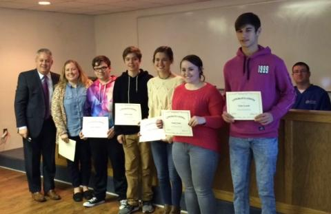 BCHS Y Chapter Students who attended the Kentucky Youth Assembly: Nathaniel Henderson, Tyler Lynch, Kobe Annis, Bodie Hammer, Bailey Collins, Macauley Hampton, Camryn Newland, Annie Locke, and Samantha Henderson