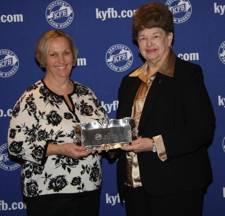 Rita Drake, chair of the Butler County Farm Bureau Women's Committee (left), acc