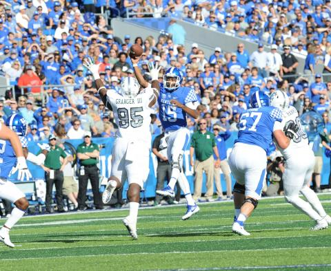 Quarterback Stephen Johnson remains convinced UK can win a lot more games despite the Cats' anemic offensive showing against Eastern Michigan. (Vicky Graff Photo)