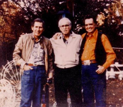 Chet Atkins, Mose Rager, and Merle Travis