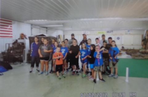 The NASP students and coaches