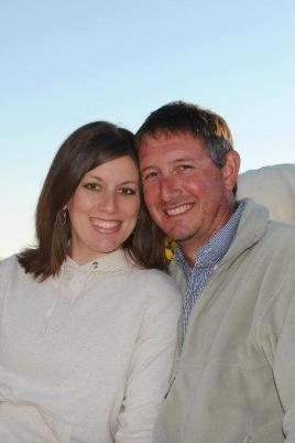 Tiffany Hampton and husband Mark.